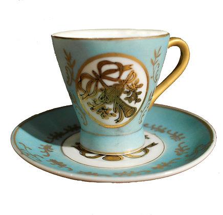 'Fanfare' Vintage Teacup with Saucer