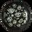 'Al-'Ayn' Patterned Black Decor Plates