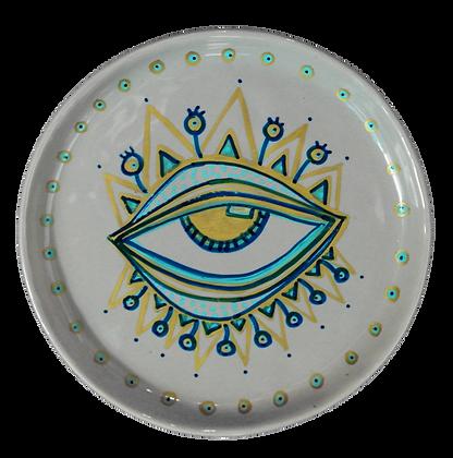 'Al-'Ayn' Grey Decor Plates