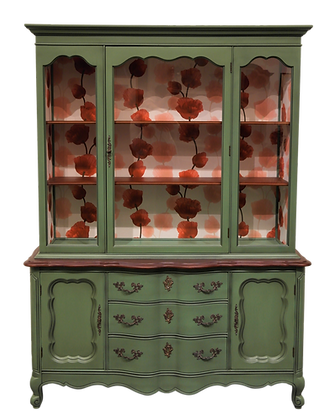 'Flora' French Provincial Cabinet