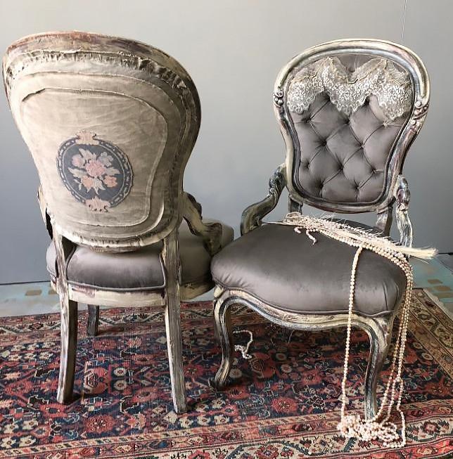 Shabby-chic armchair
