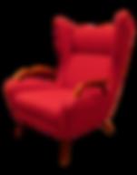 Red vintage armchair