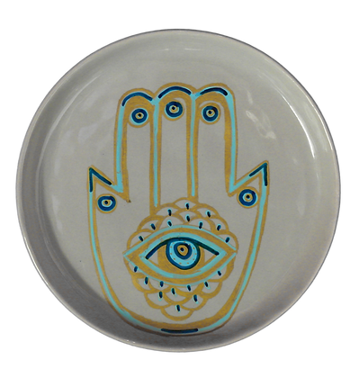 'Hamsa' Grey Decor Plates
