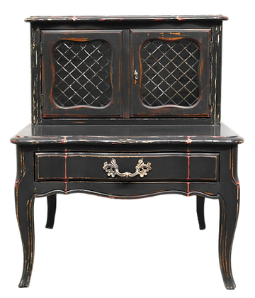 Edna' Nightstand with French Script