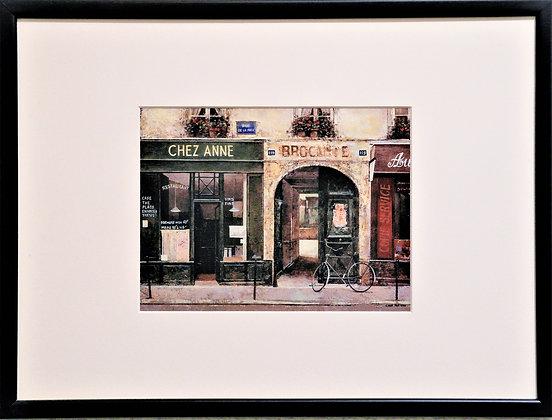 'A street in Paris' Vintage-style Print