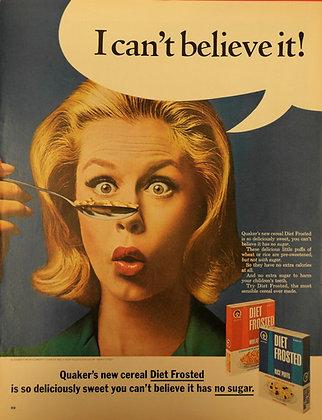 Vintage magazine ad wall decor