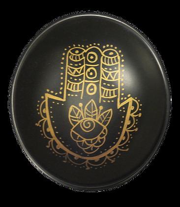 'Hamsa' Mini Black Decor Plate