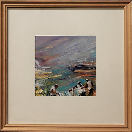 'Fisherman II' Watercolor Painting