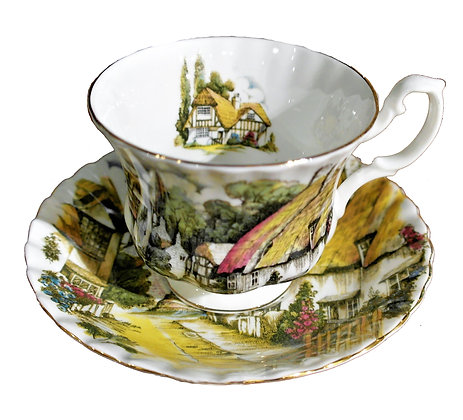 'Hampshire' Vintage Teacup with Saucer by Royal Albert