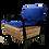 Blue vintage armchair