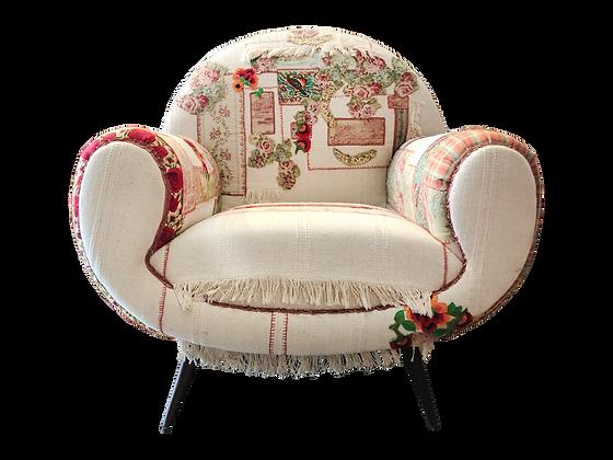 'Badriya' handsewn patchwork phone chair
