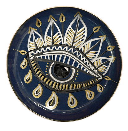 'Al-'Ayn' Navy Decor Plates