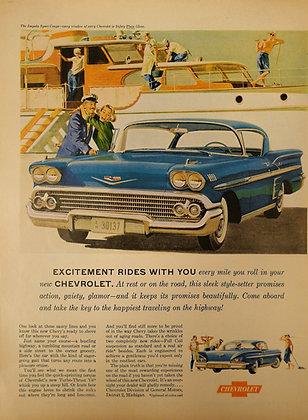 Chevrolet car  vintage advertisement