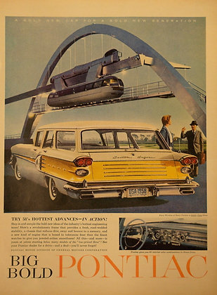 Vintage car commercial