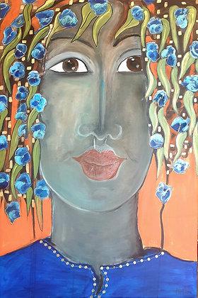 Oil painting by Britt Bourtos Ghali