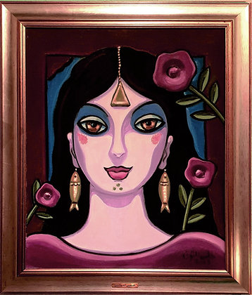 Blooming Lady painting by Helmi El-Touni