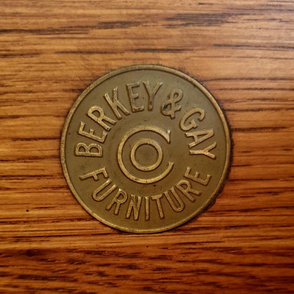 Berkey & Gay Furniture Label