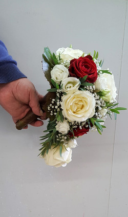 Bouquet de mariée vue de profil