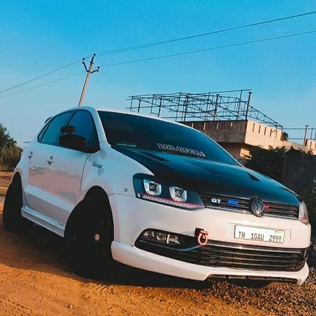 Slat's pearl white Volkswagen Polo
