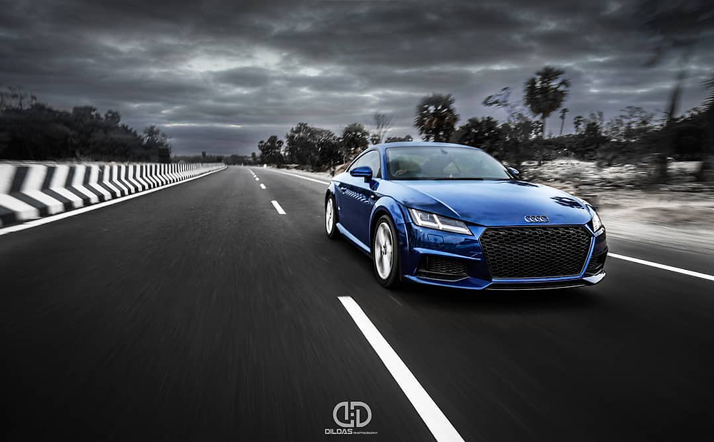 Front view of modified Audi TT