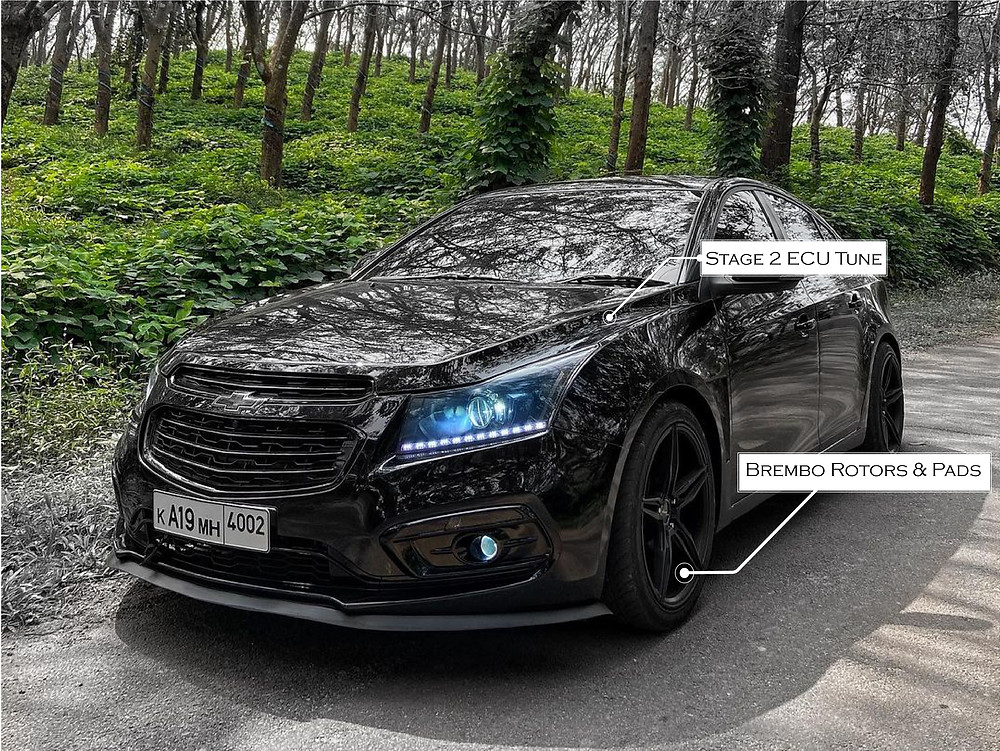 Modified Chevrolet Cruze With  Aftermarket Projector Headlamps