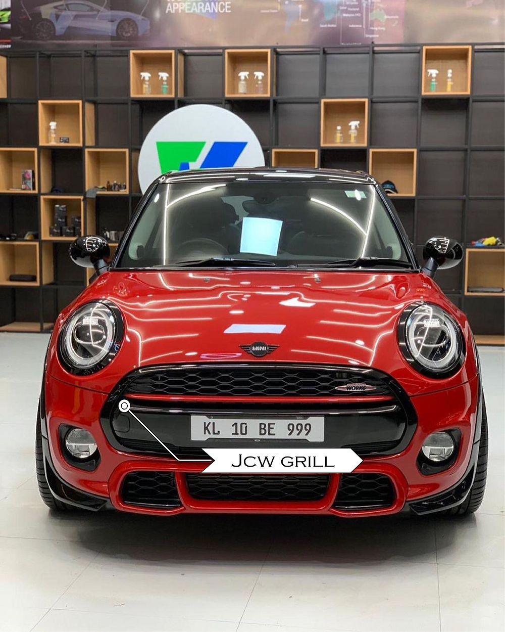 Modified Mini Cooper with JCW front grill