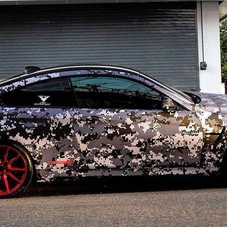 Country's First BMW M4 With Opulently Pixelated Wrap