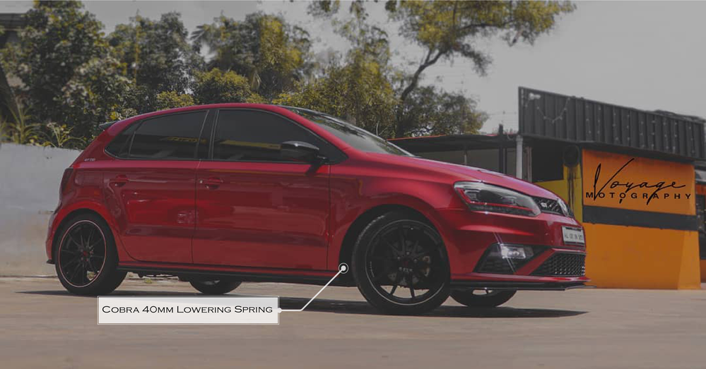 Polo GT Modified runs with cobra lowering springs