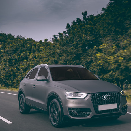 Check Out The Charcoal Grey Wrapped Audi Q3