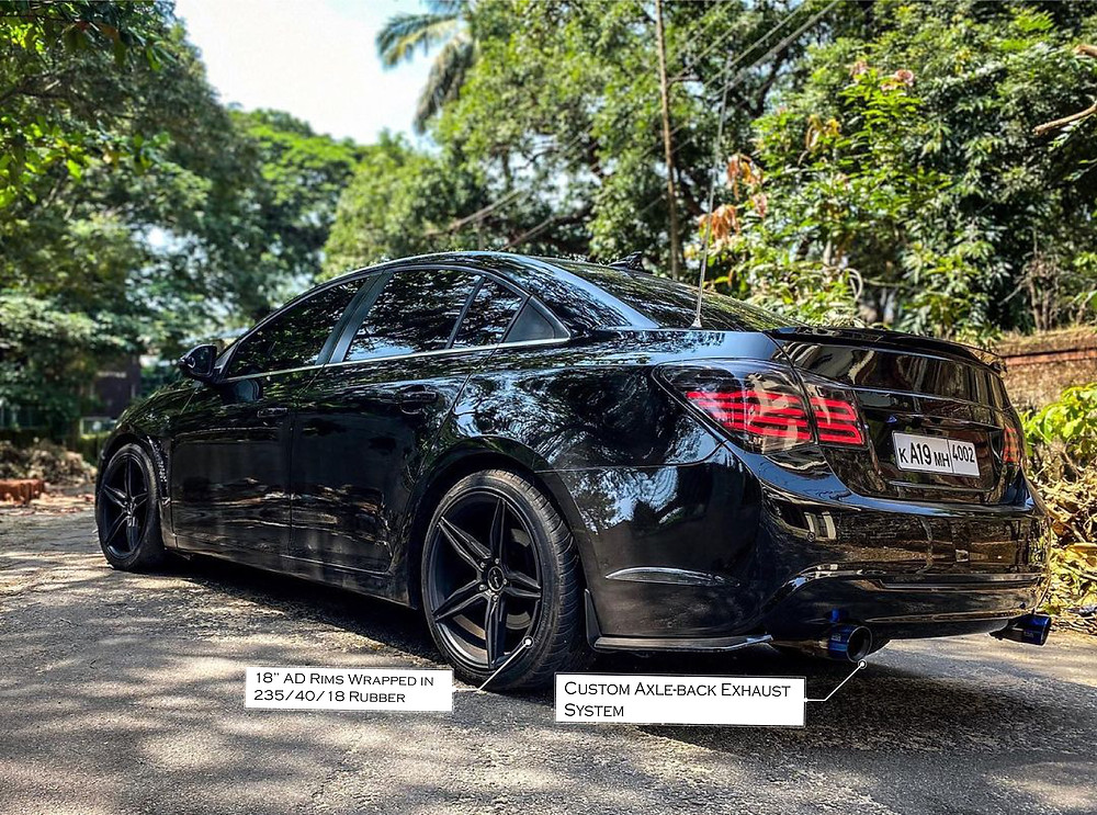 Modified Chevrolet Cruze With Custom Axle-back Exhaust System