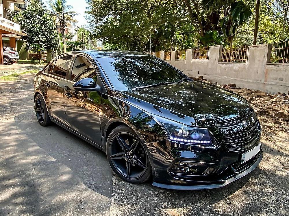 Modified Black Chevrolet Cruze
