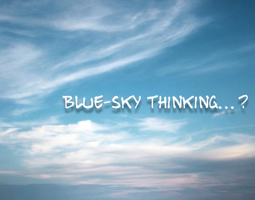 PR speak, PR jargon, corporate speak, blue sky thinking