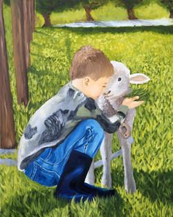 Boy and his Lamb