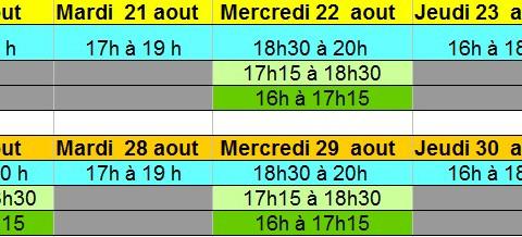 Reprise  entrainements  U15 / U17 et U20 région