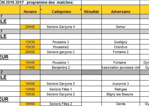 Les matches du week end : 24 au 26 mars
