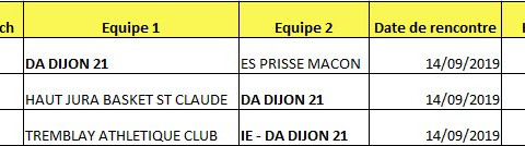 Matches du week  end  : 14 septembre