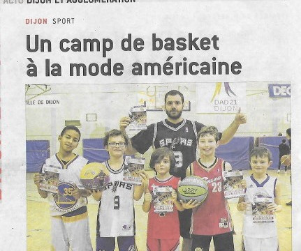 Le Camp Basket US à l'honneur dans  le   Bien Public