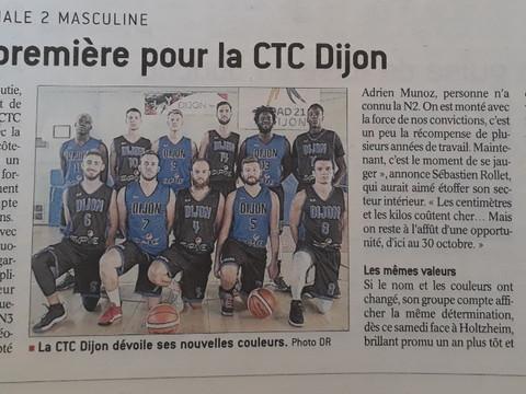 N2: débuts officiels pour la CTC Dijon ce soir