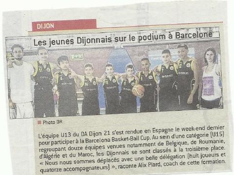 Les U13  au tournoi de Barcelone