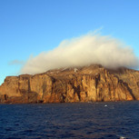 Volcanic island in the clouds