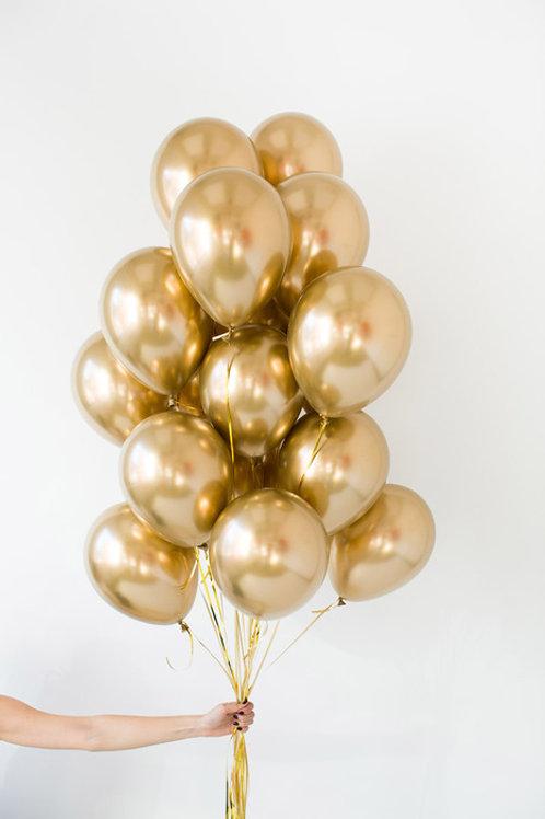 """Сет из латексных воздушных шаров """"Золотой"""""""