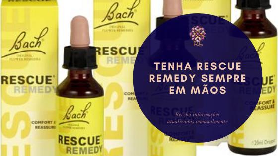 Tenha o Rescue Remedy Sempre em Mãos