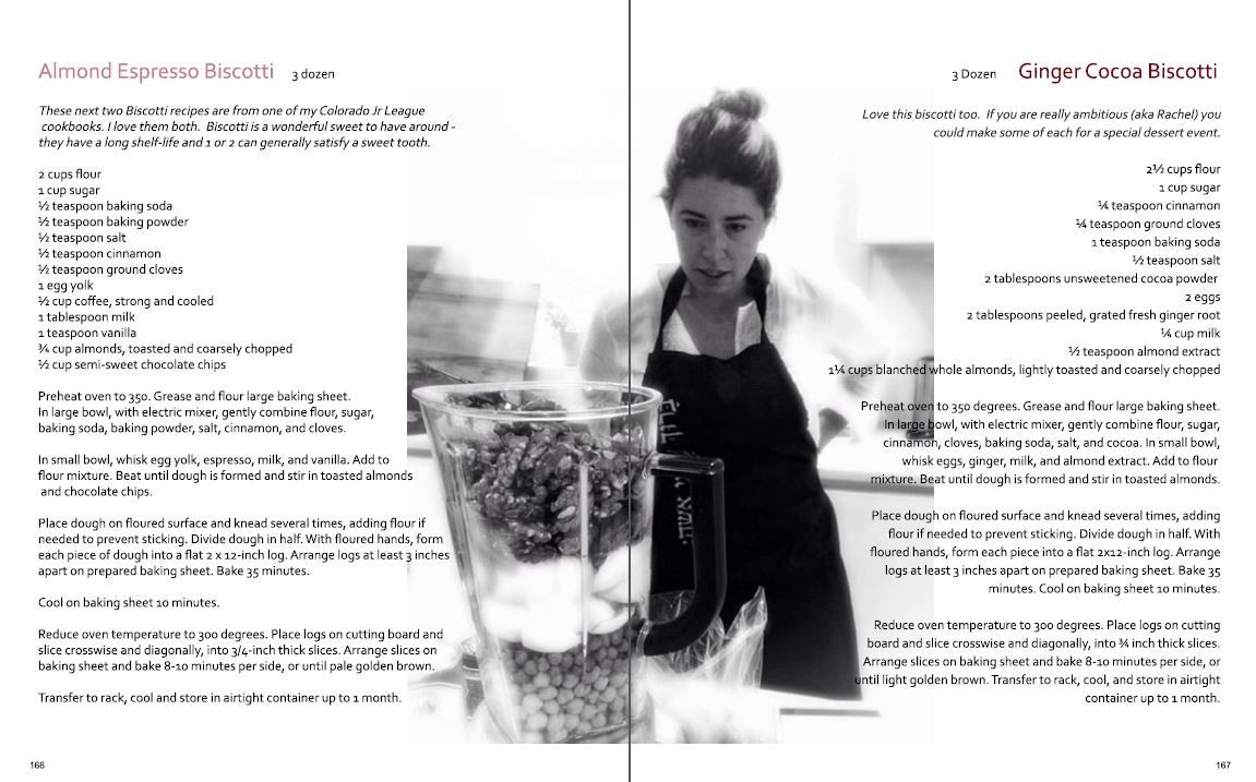 Recipes - two-page spread