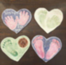 Ceramic Heart Prints