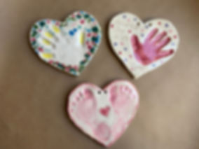 Mother / Father's Day Ceramic Heart Prints
