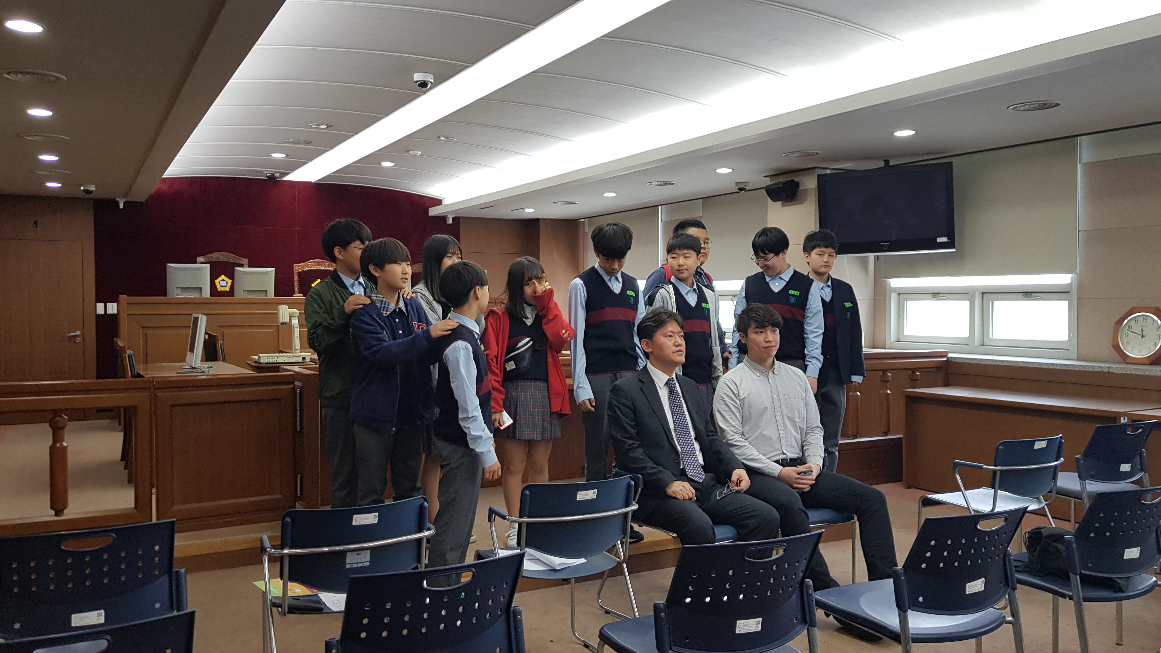 20190430 휘경중학교 현장직업체험 - 경희대 로스쿨 (50) (곽)