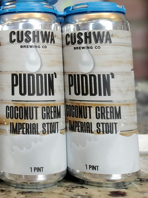 Cushwa Puddin Coconut Cream 4pk Cans