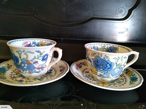Pair of Jumbo Cups and Saucers