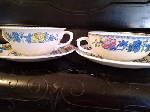 Mason Regency Soup Coupe and Saucer-Flat