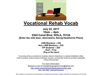 Vocational Rehab Vocab